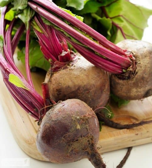 Beets for Haddock over Beet Puree
