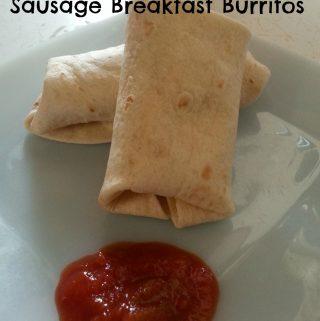 Freezer Breakfast Sausage Breakfast Burritos