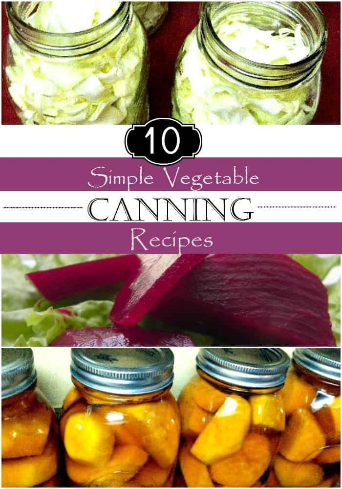Don't miss these Top 10 Simple Vegetable Canning Recipes and amazing tips for the novice home canner. Learn how to preserve food with ease using our tips!