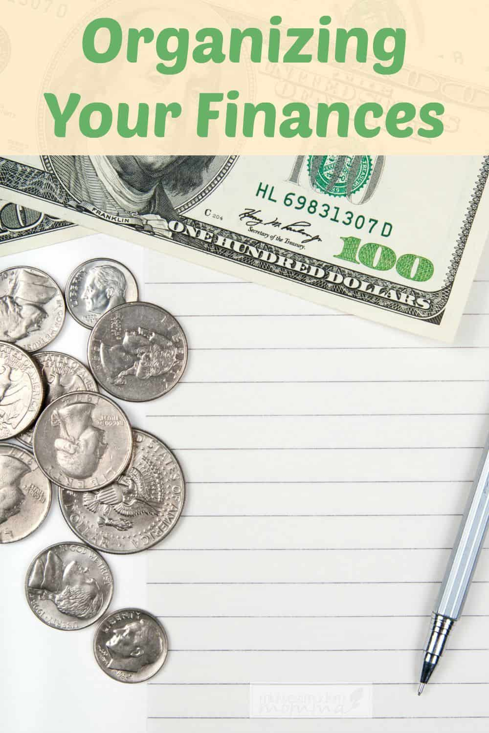 Tips for Organizing Your Finances | Part of the 31 Days to an  Organized Home