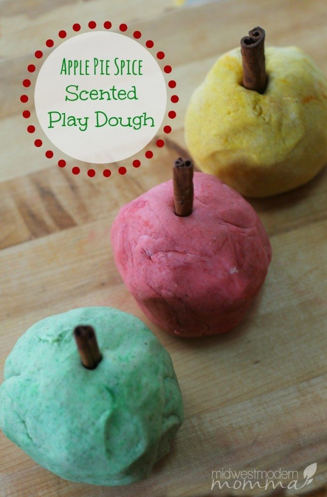 apple pie scented playdough