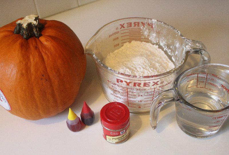 Ingredients for pumpkin pie spice scented homemade slime, goop, or gak!