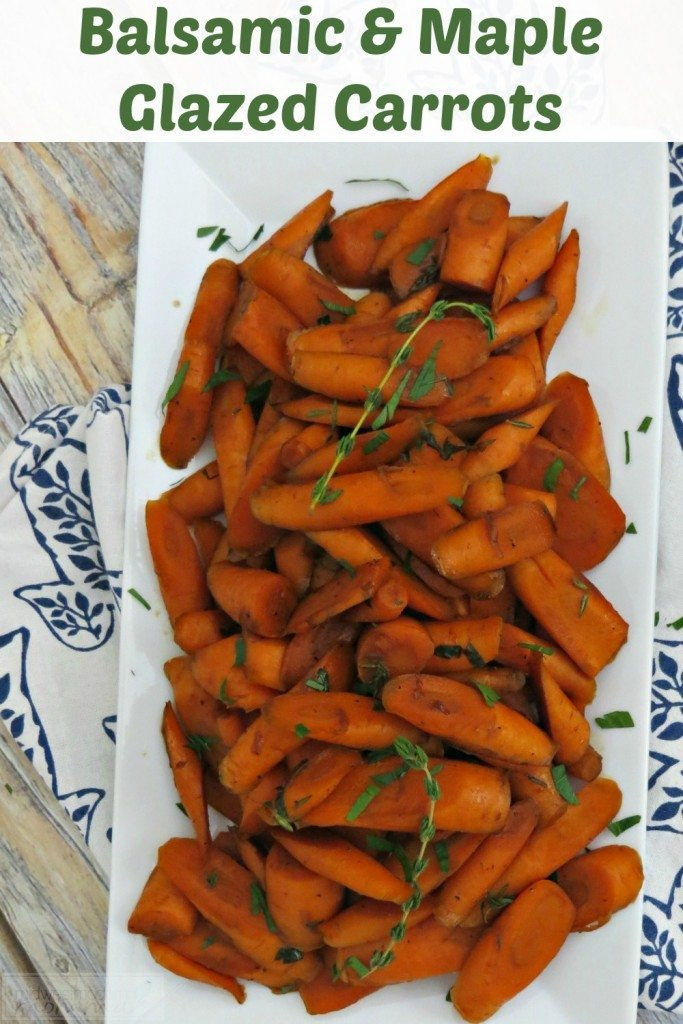 These Balsamic & Maple Carrots Recipe is one of our favorite sides. It's perfect for the holidays and family meals, but this side dish also goes great alongside any grilled or roasted meat. It is such an easy recipe to whip up, delicious, and full of nutrients!