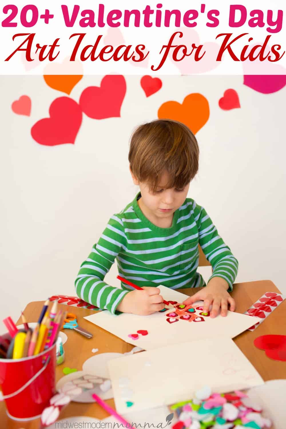 These Valentine's Day Art Ideas for Kids are sure to keep your children entertained on those cold days and get their creative juices flowing!