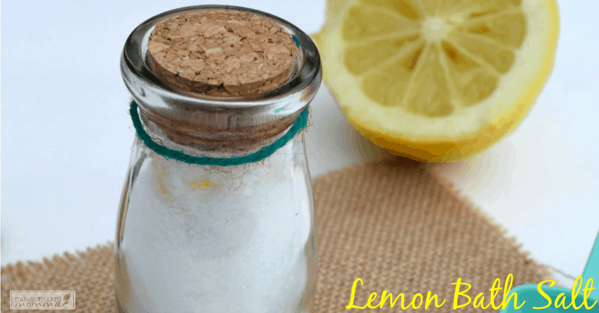 Homemade Lemon Bath Salt