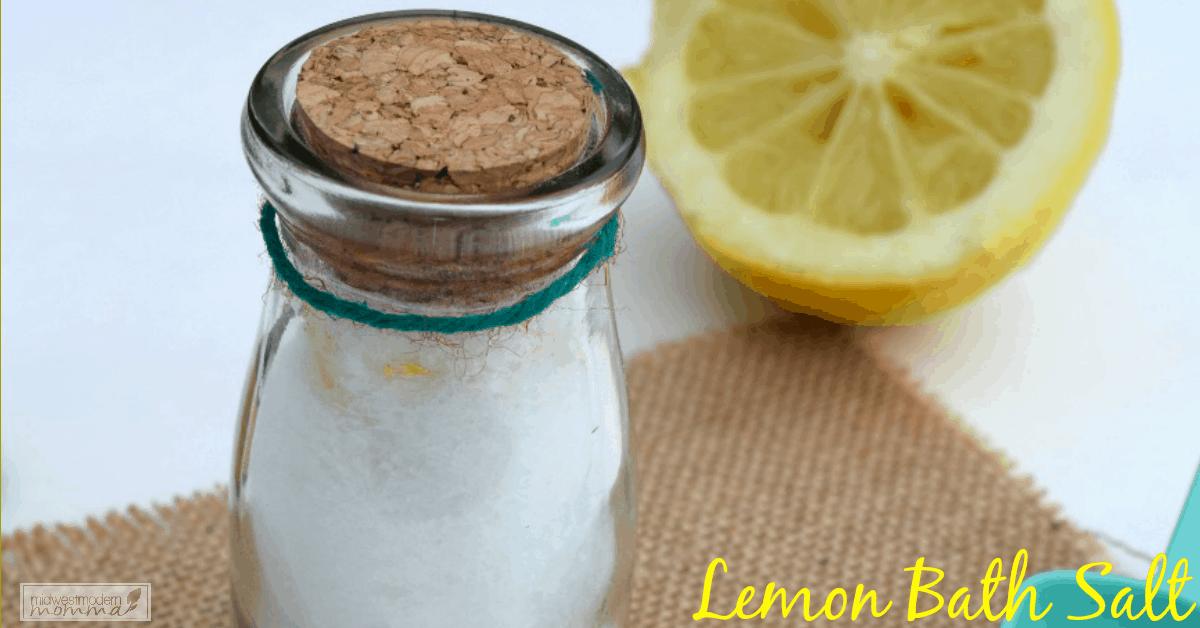 Homemade Lemon Bath Salt
