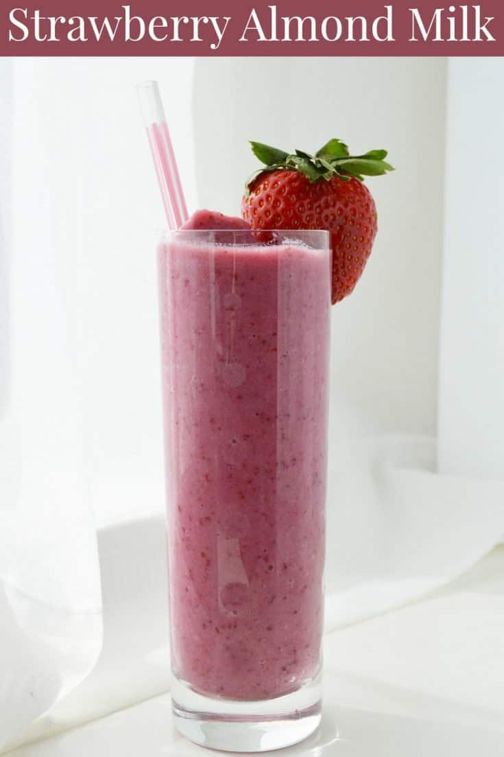 Quick & Easy Strawberry Almond Milk Smoothie Recipe