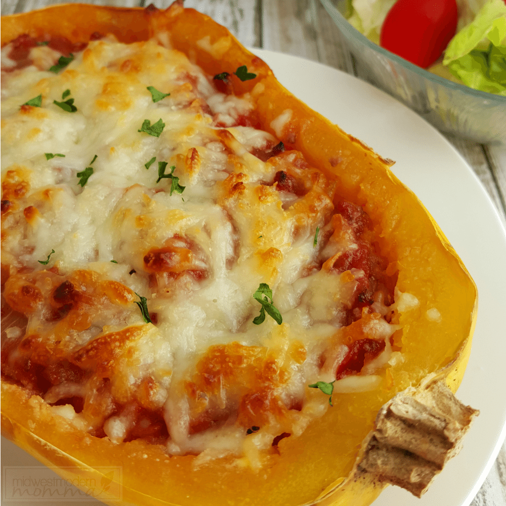 Make our easy Lasagna stuffed spaghetti squash for a healthy and hearty gluten-free meal everyone will enjoy!