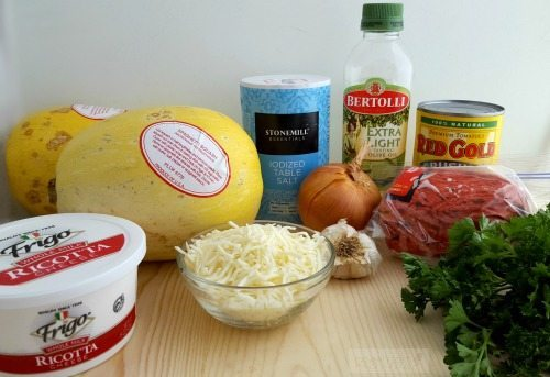 Lasagna Stuffed Spaghetti Squash Ingredients