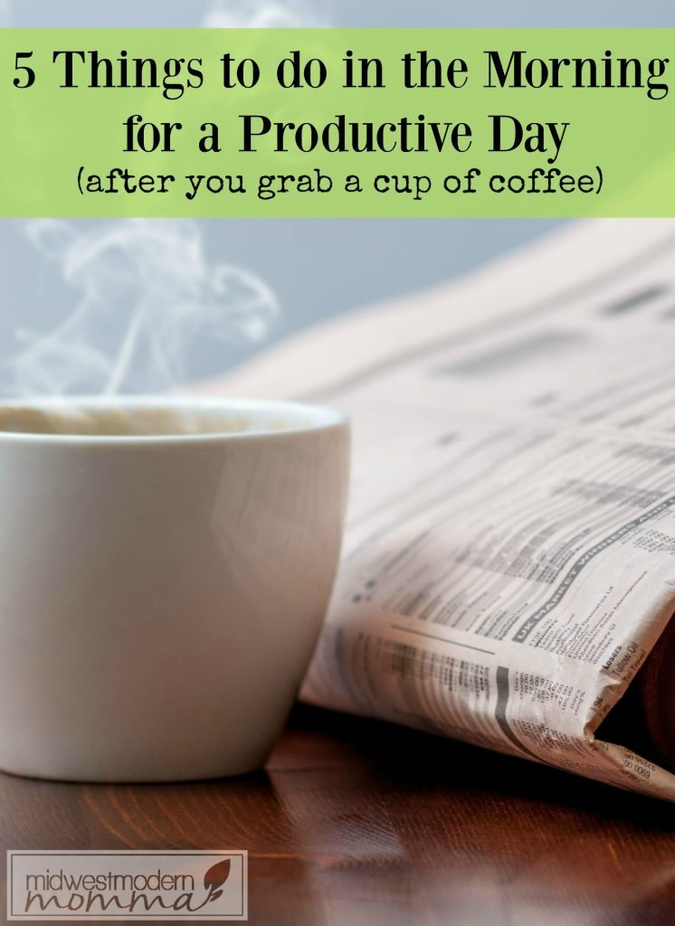 How To Be More Productive in the morning is easy to discover with our great tips! Don't miss my personal tips on how to mange the morning to make your day better!