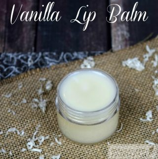 Vanilla Homemade Lip Balm