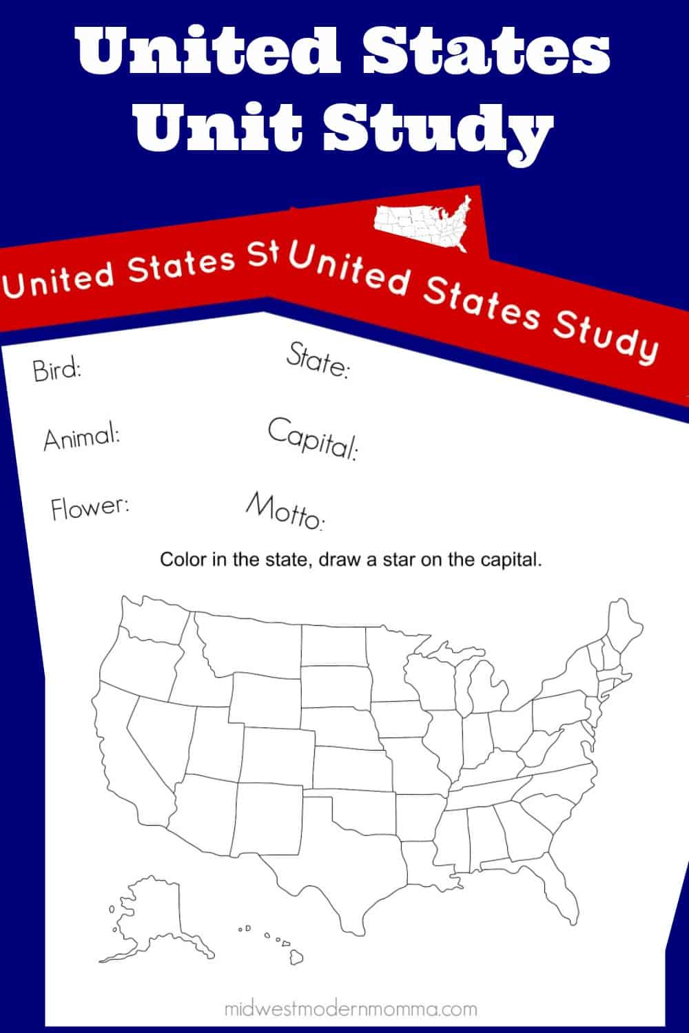 If you are looking for a free homeschool curriculum to teach your kids about the United States, we have a great United States unit study. This includes some amazing free printables that you can utilize in your classroom while working with your kids. This free homeschool curriculum is easy to adjust to any age range.