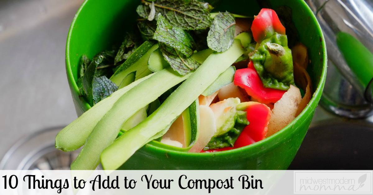 Composting Bins are a great way to add natural fertilizer to your garden. Check out our list of the 10 Best items to add to your compost bin this year!