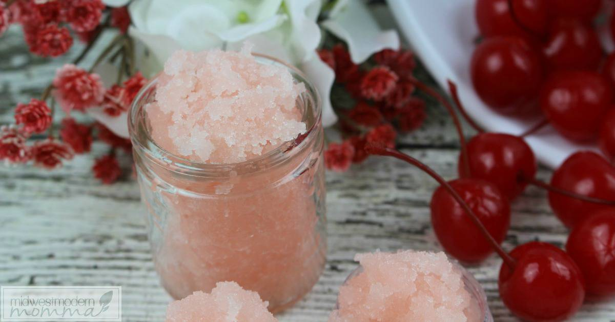 Homemade Lip Scrub like our amazing cherry vanilla flavor is a great gift idea and easy to make homemade beauty product!