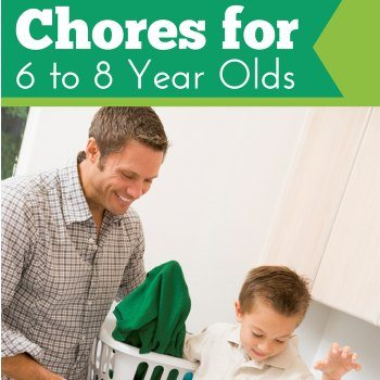 Age Appropriate Chores for 6, 7, and 8 year olds