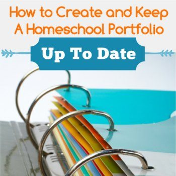 How to Create A Homeschool Portfolio - And Keep it Up to Date!