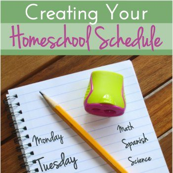 Creating & sticking to a homeschool schedule doesn't have to be hard! It's a matter of exploring your options, being flexible, & finding what works for you