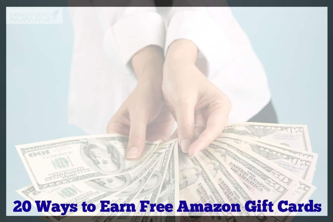 20 Ways to Earn Amazon Gift Cards