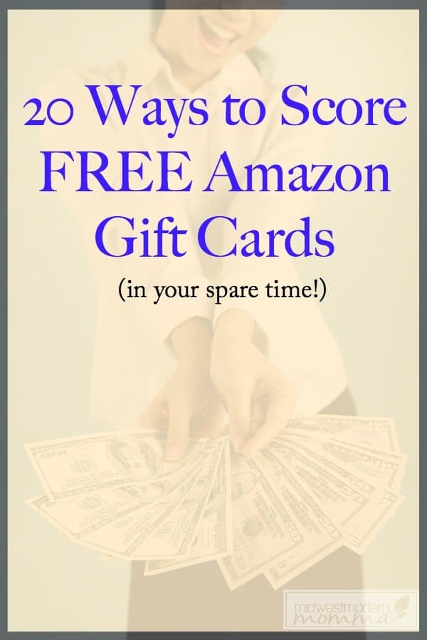 20 Ways to Earn Free Amazon Gift Cards