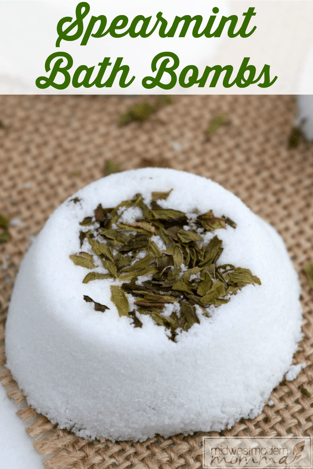 DIY Bath Bombs with Spearmint