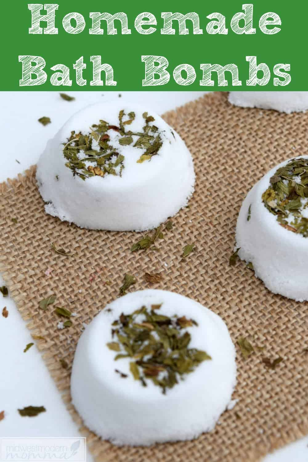 Easy DIY Bath Bombs with Spearmint
