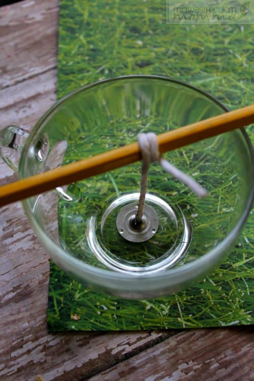 DIY Citronella Candles with Essential oils are a great addition to your porch this summer! This soy wax based candle is easy to make and works great!