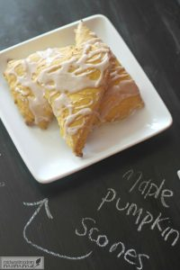 These homemade Maple Pumpkin Scones are so easy to whip all you'll be making them all year - not just during Pumpkin Spice Everything season! Pair them with your favorite Pumpkin Spice latte for a delicious breakfast!