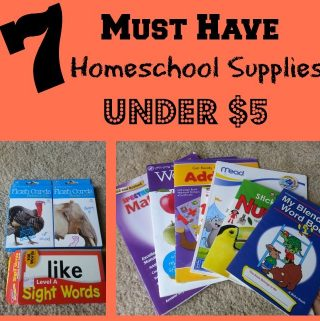 Must Have Homeschool Supplies Under $5
