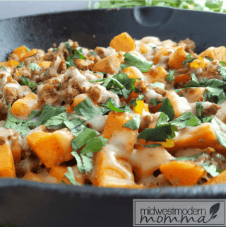 Paleo Taco Sweet Potato Hash with Ground Turkey