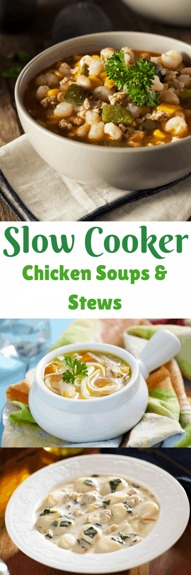 Slow Cooker Chicken Soup, Stew, and Chili Recipes