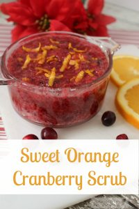 Our Orange Cranberry Homemade Sugar Scrub brings the scent of the holidays to your daily beauty routine! This delightful exfoliant is easy to make and a budget friendly sugar scrub that soothes the skin without harsh chemicals!