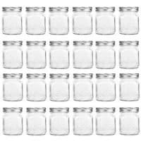 4 oz Mini Canning Jars Glass Jars with Lids