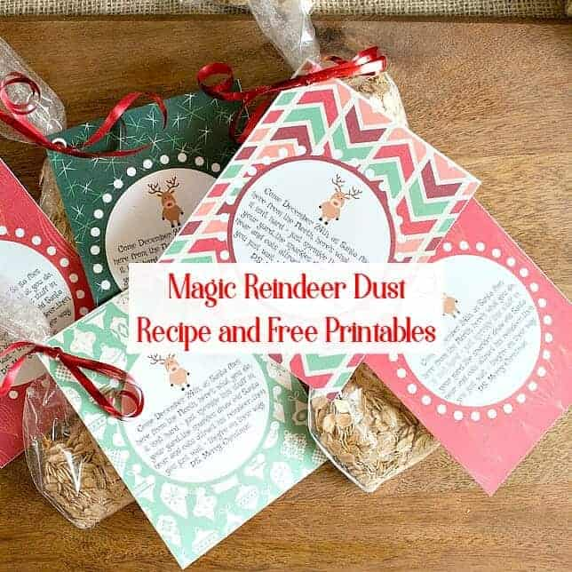 Magic Reindeer Food – Poem with Free Printables
