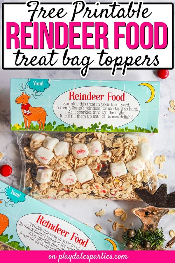 The Cutest Reindeer Food Printable with Poem