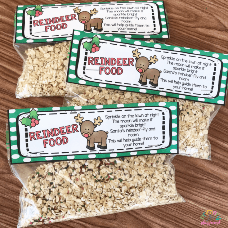 Free Printable Reindeer Food Bag Topper - Primary Playground