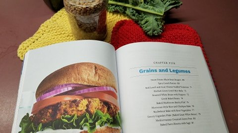 Spicy lentil patty picture in cookbook